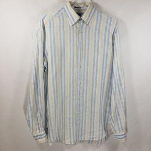 Paul & Shark Yachting 100% Linen Shirt Sz M